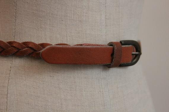 Plaited Leather Boho 70's Belt Large