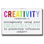 Creativity Definition Hand Painted Wooden Sign