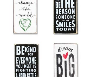 Inspirational BOP mini sign bundle