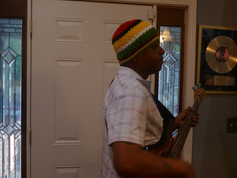 Mens Autumn Hats Collection Jaco Pastorius Inspired Beanie Number 116 For Your Bass Player Boyfriend