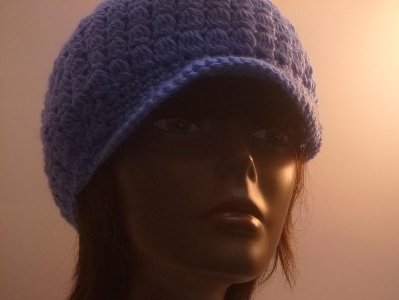 Ladies Cap Country Blue  Crochet Gift Under 30 dollars