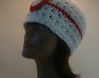 A lil bit of geekery PokeBall Inspired Premier Ball Beanie Red and White  Sparkle Gift Under 30 dollars