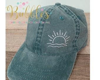 Beach baseball hat Sunshine Design ~Pigment Dyed~Unstructured-womens hat