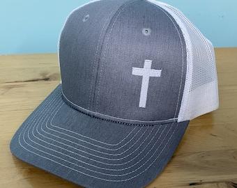 Cross Baseball Trucker Hat Christian Apparel Mens Womens