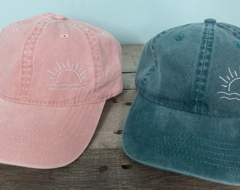 Sunshine beach waves baseball hat ~Pigment Dyed~Unstructured-womens hat