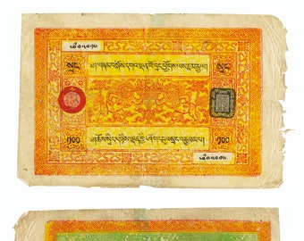 Tibet 100 Srang 1942-1959 Pop Art.