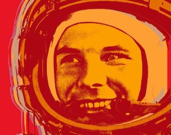 Yuri Gagarin Pop Art print
