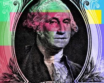 George Washington Pop Art  - canvas giclee