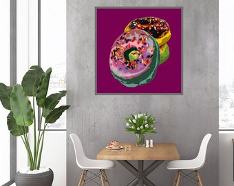 Donut Pop Art print
