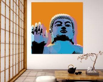 Buddha Pop Art Warhol style - orange background