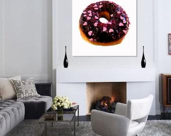 Donut Pop Art print - Heart shape sprinkles