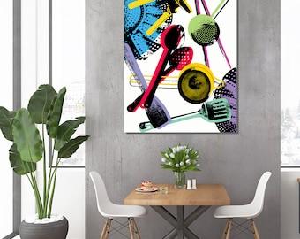 Kitchen Utensils -  Pop Art collage Warhol style