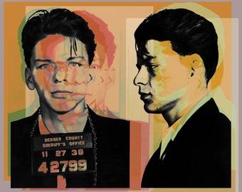 Frank Sinatra mugshot Pop Art Warhol style