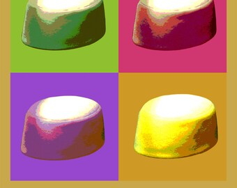 Jackie's pillbox hat Pop Art Warhol style print