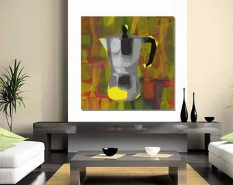 Moka pot Pop Art print - canvas