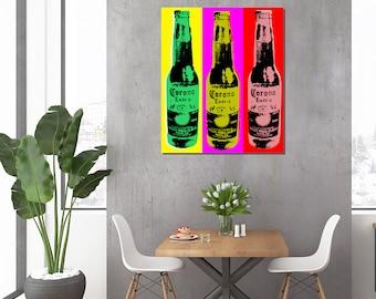 Corona beer Pop Art Warhol style print