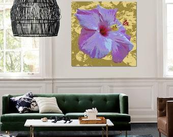 Hibiscus Pop Art print