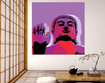 Buddha Pop Art Warhol style print