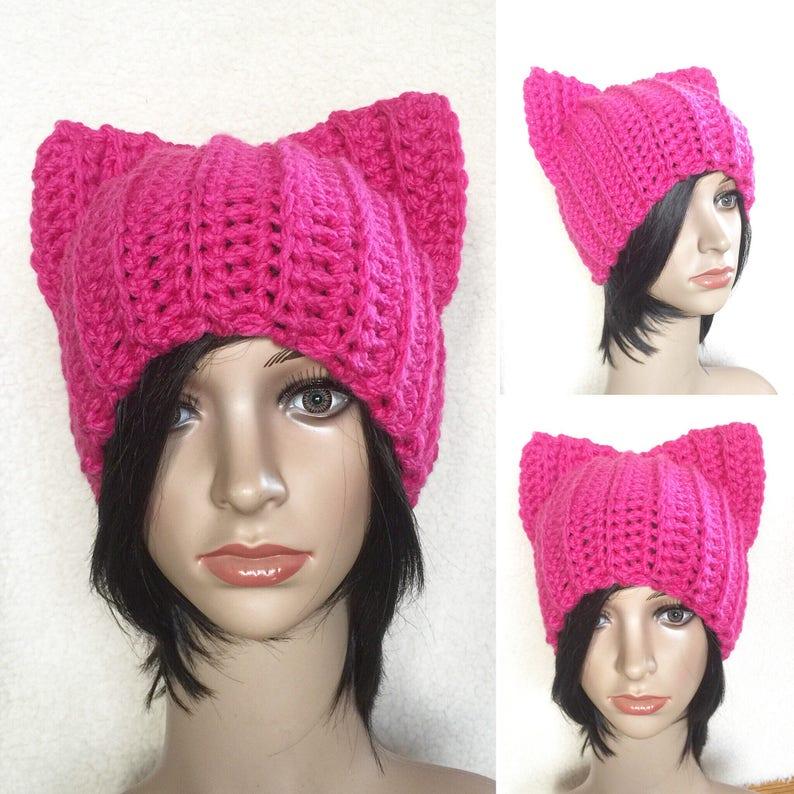 7fa14dfaea7 Pink Pussycat hat Pussy Cat Beanie Cat Hat PussyCat Hat
