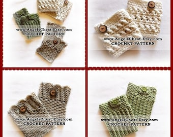CROCHET PATTERN PDF Crocheted Boot Cuff Boot Covers Toddler to Adult sizes Boutique Design - No. 47 by AngelsChest