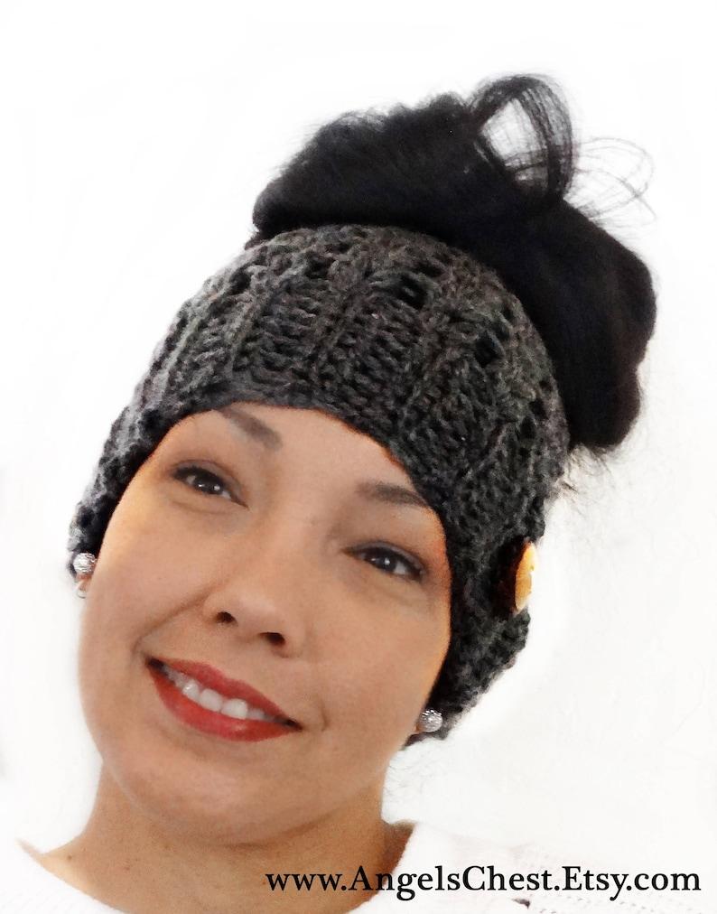 1b046134da9 Messy Bun Beanie Crochet Messy Bun Beanie Top Knot Beanie