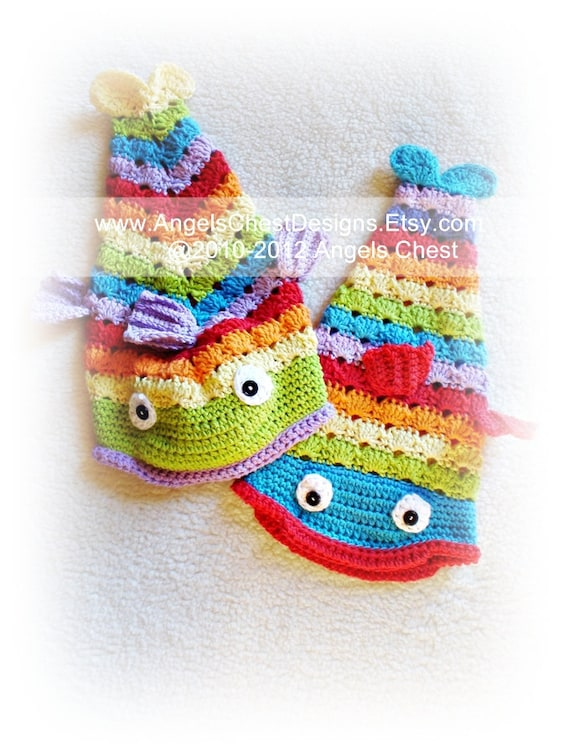 Fish Hat Pdf Crochet Tutorial Pattern Something Is Fishy Etsy