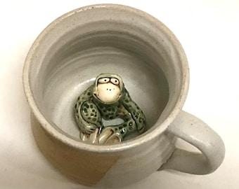 Frog Mug Stoneware Handmade