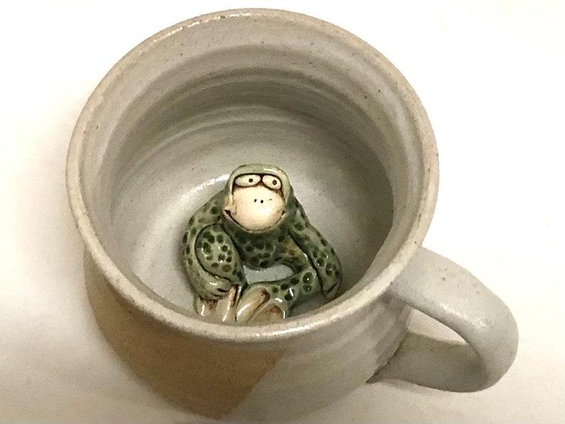 Frog Mug Stoneware Handmade image 0