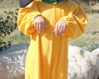 Yellow Dog/Puppy Costume in Cotton for Children/Toddler/Infant includes body & hood W/Collar for Halloween, Party, Birthday, Christmas