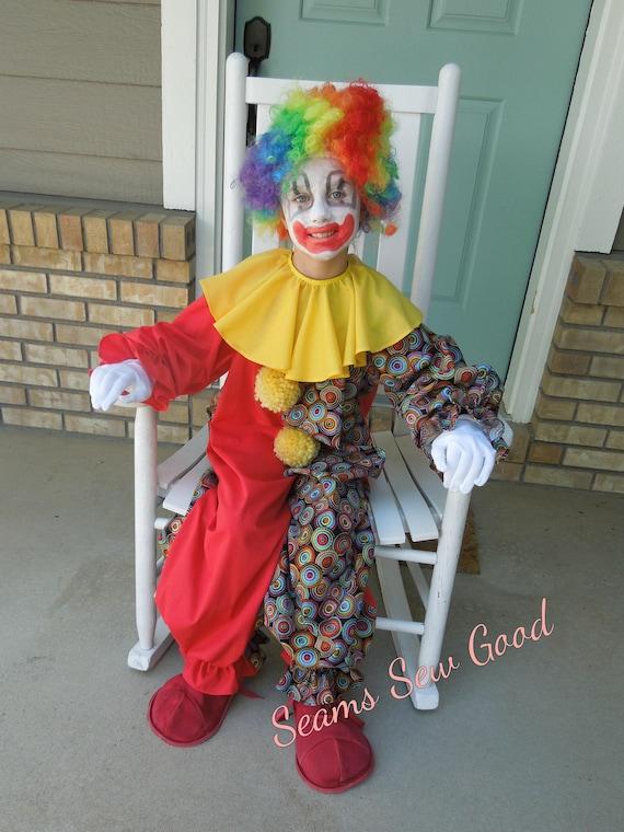 Child Clown Costume Toddler Clown Costume Child Clown Etsy
