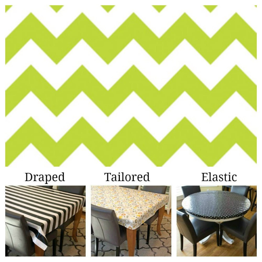 laminated cotton aka oilcloth tablecloth custom size and fit etsy. Black Bedroom Furniture Sets. Home Design Ideas