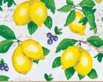 PADDED Ironing Board Cover with elastic around edges, lemon and berries collage fabric, select your size