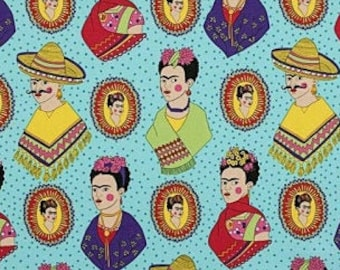Laminated cotton aka oilcloth tablecloth TAILORED, DRAPED, or fitted with ELASTIC, Alexander Henry Fantastico Frida