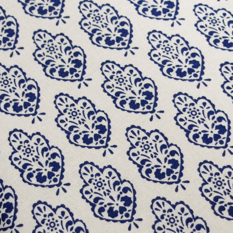 PADDED Ironing Board Cover made with 100 percent linen delft blue on white select the size