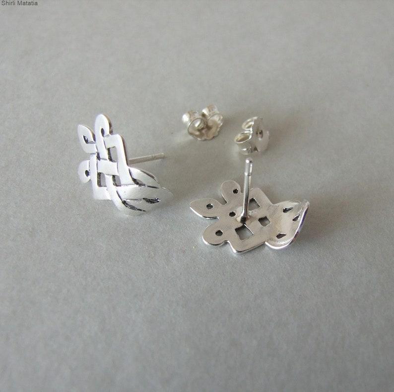 Celtic wedding Silver Celtic Hugging Earrings silver earrings stud earrings celtic jewelry silver stud earrings celtic earrings