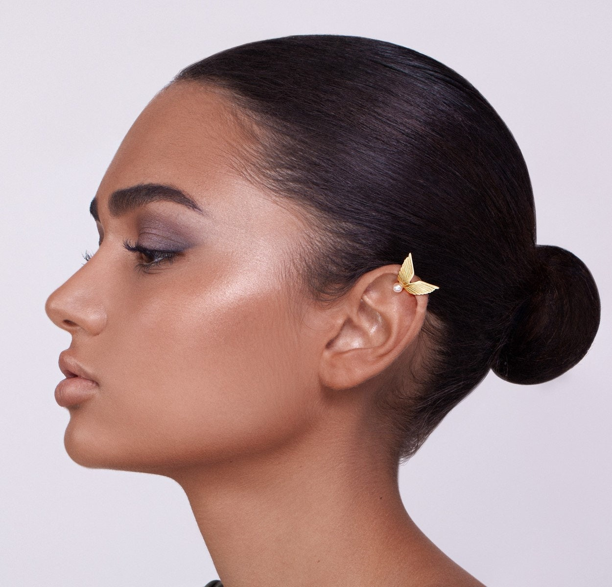 Goldene Flügel Ohr Manschette mit Perle Ohr Manschette kein   Etsy