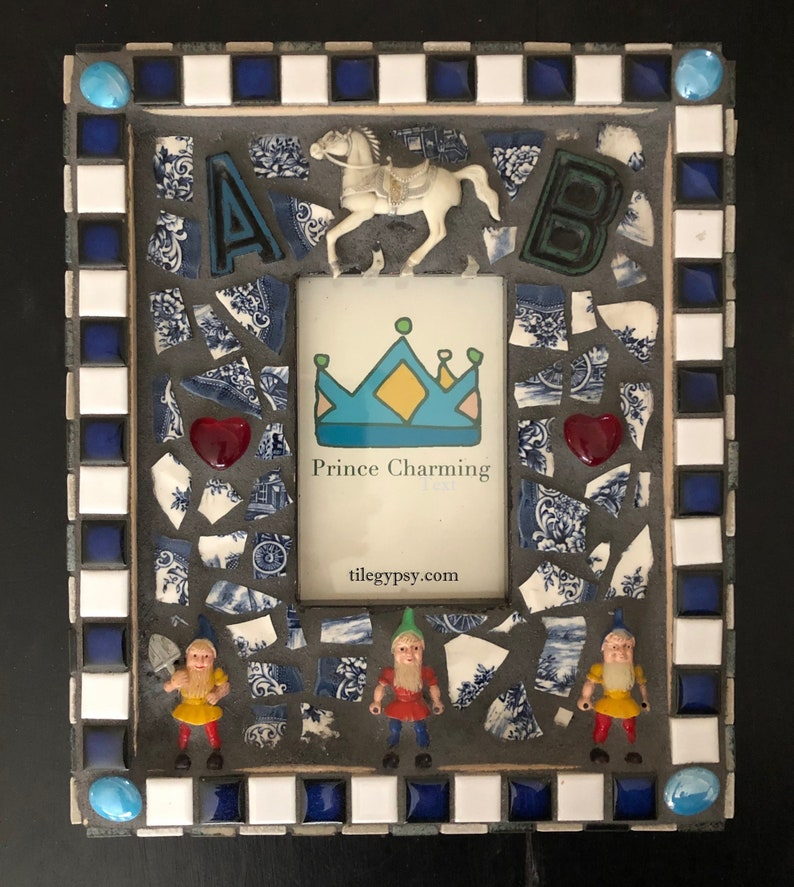 Vintage Mosaic Tile Picture Frames Prince Charming and Pretty image 0