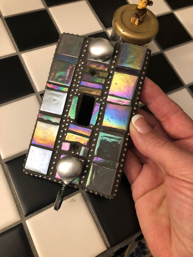 Switch Plate Cover Art One of a Kind Single Lightswitch image 0