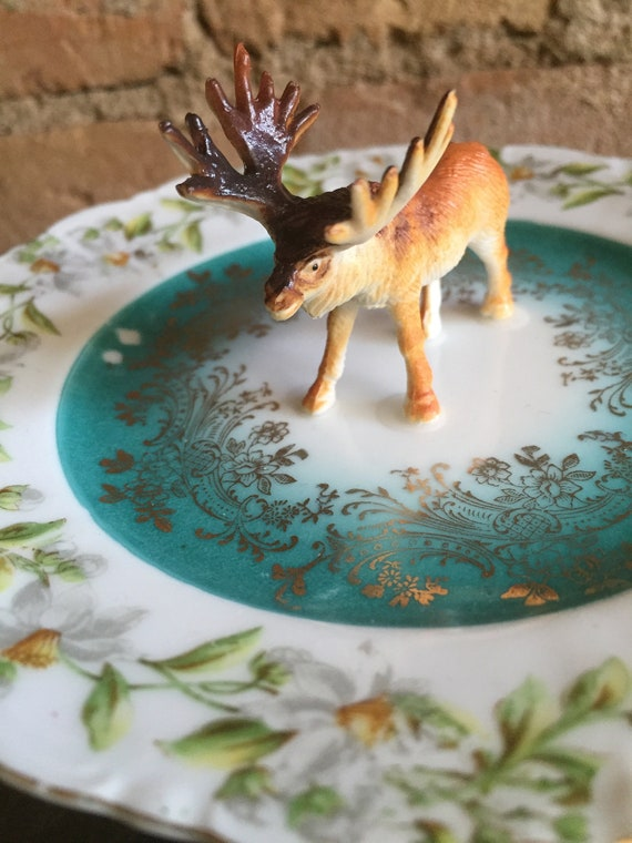 Trinket Dish Schnauzer Ring Dish Federal Glass Moon Glow Ring Dish for Schnauzer Lovers Everywhere! One of a Kind Found Object Art