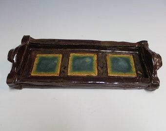Handbuilt Stoneware Serving Tray-C