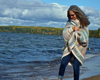 Easy Chunky Crochet Shrug PATTERN / Luxe Oversized Shrug / Cardigan Sweater