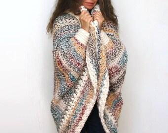 e11eb480e5ce93 Easy Chunky Crochet Shrug PATTERN   Luxe Oversized Shrug   Cardigan Sweater