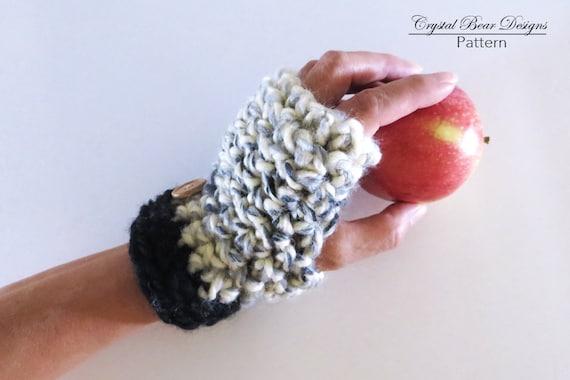 Crochet Fingerless Gloves PATTERN / Texting Mitts / Chunky | Etsy
