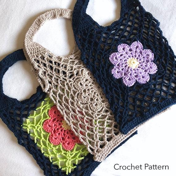 Crochet Market Bag PATTERN Eco Friendly Mesh Bag Made In Etsy Adorable Crochet Mesh Market Bag Pattern