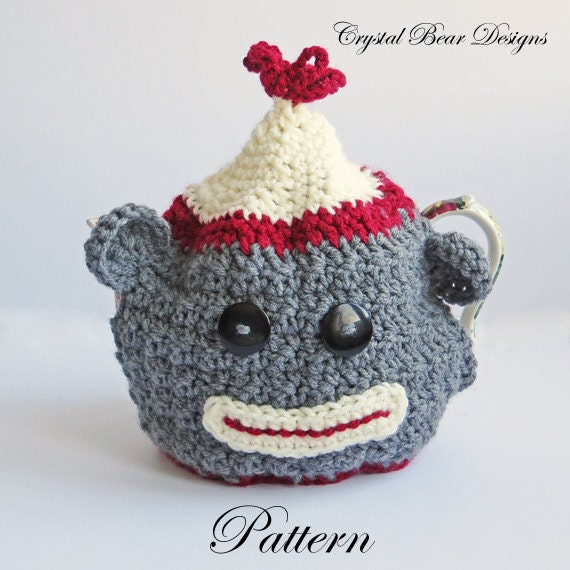 Crochet Tea Cozy Pattern Sock Money Teapot Cover Etsy