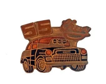 a1379e83916c9 1955 CHEVY vintage enamel pin lapel enamel pinback tie hat gift
