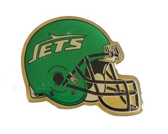 8df4f0296df NEW YORK JETS Helmet vintage enamel pin button football nfl