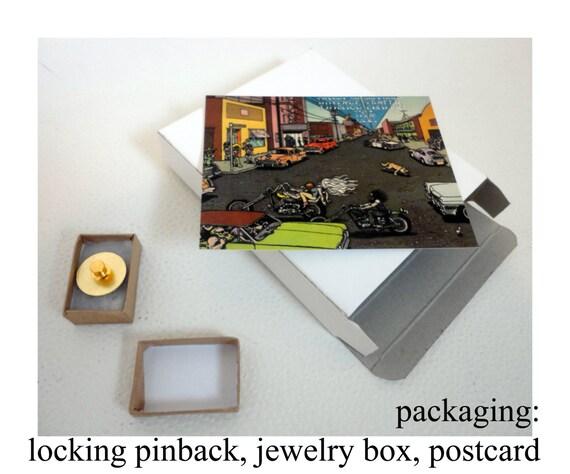 PORNO FOR PYROS vintage enamel pin button pinback… - image 4