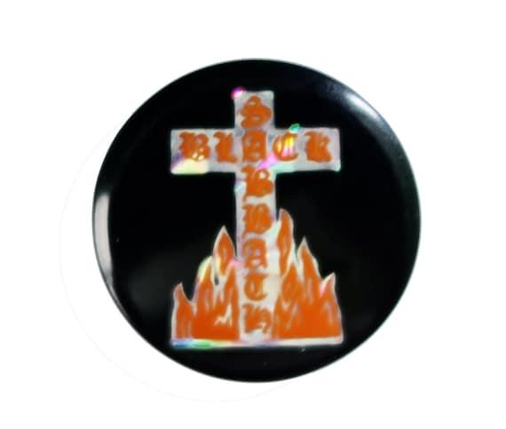 BLACK SABBATH Bloody Sabbath heavy metal prismatic vintage enamel pin lapel badge brooch gift button
