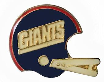 New York GIANTS Helmet vintage enamel pin button football NFL NY